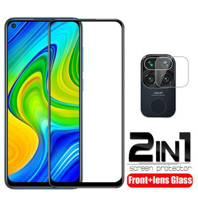 9D Tempered Glass for Xiaomi Redmi Note 9s 9 Pro Max Screen Protector 2 In 1 Camera Lens Film on