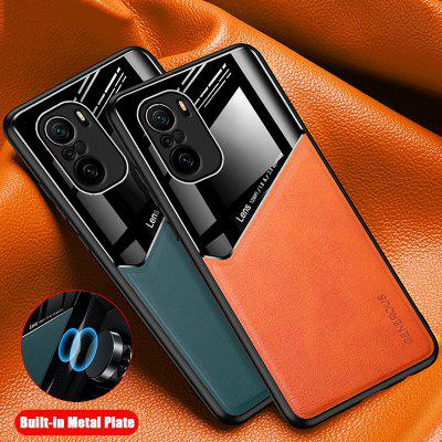 Car Magnetic Holder Phone Covers for Redmi Note 10 Pro Max Case  Xiaomi Leather