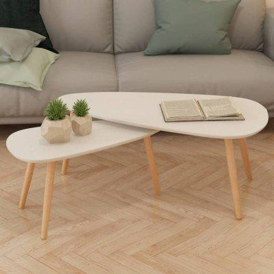 Gearbest / VidaXL Coffee Table Set 2 Pieces Solid Pinewood