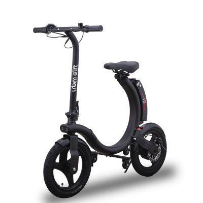 Urban Drift Folding Electric Scooter with Seat for Adults 14inch Air Filled Tires 18Miles & 23Mph 264 lbs Max Weight Capacity Easy