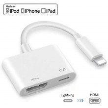 8-Pin To Hdmi Adapter 1080p Lightning Digital Audio Av Adapter Compatible With Iphone 11/Xs Max/Xr/X/8/8 Plus/7