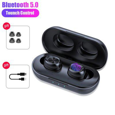 B5 TWS 5.0 Touch True Stereo Wireless Active Noise Cancelling Gaming Headphons Headsets With Mic Charging Box for Smart Phones Bluetooth Headset