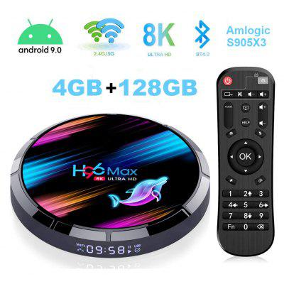 Android TV Box H96 Max X3 4K/8K Android 9.0 Smart TV Box Amlogic S905 X3 Chipset Support H265 VP9 Video Decoding 2.4G 5GWifi 1000M LAN USB 3.0 Image