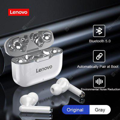 TWS Earphones Lenovo LP1 Bluetooth 5.0 Earbuds Wireless Charging Box 9D Stereo Sports Waterproof Headsets With Microphone Mic tws 9 wireless bluetooth earphones headphones 3d stereo bluetooth headsets waterproof earpiece earbuds with microphone