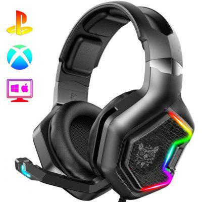 ONIKUMA Headphone Gaming Headset with 7.1 Surround Sound Pro Noise Canceling Gaming Headphones with Mic & Compatible