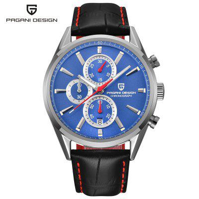 PAGANI DESIGN 2765 Men Fashion Blue Dial Chronograph Quartz Watch Men Sport Business Watches Stainless Steel Luxyry watches