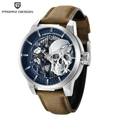 PAGANI DESIGN 1665 Skeleton Mens Watches Top Brand Luxury Mechanical Automatic Watch For Men 100M Waterproof Business Clock