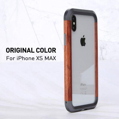 Case For iPhone 11 Case Cover Aluminum Metal Wood Bumper Case Shockproof Armor Protective Cover For iPhone 11 pro Case 11 Pro Max Case