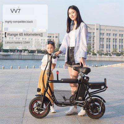 Parent Child Electric Car Child Mother-daughter Double Folding Lightweight Adult Mini Small Mobility Electric Folding Bike Electrical Motorbike Image
