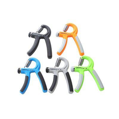 2PCS R-Shape Adjustable Hand Grip Sports Strength Countable Exercise Strengthener Gripper Spring Finger Pinch Carpal Expander random color