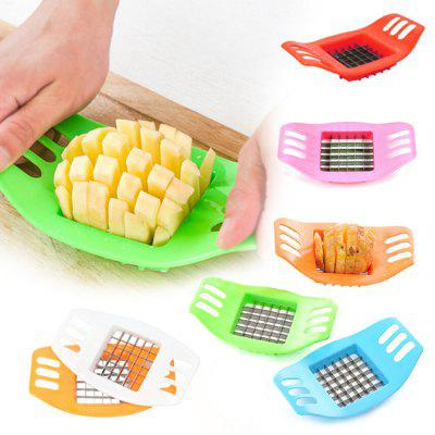 1PCS Potato Chip Cutter Stainless Steel Vegetable French Fry Chopper Chips Making Tool Kitchen Gadgets Accessories random color