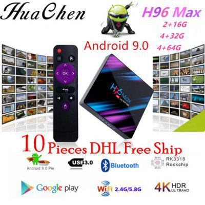 HUACHEN  H96 MAX RK3318 Android 10Smart Set Top Box 4G / 64G WiFi Bluetooth 4k HD Network Player Image