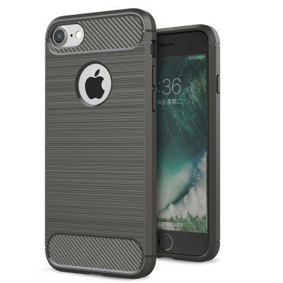 ASLING Carbon Fiber TPU Soft Back Cover Phone Case for iPhone 7 / 8