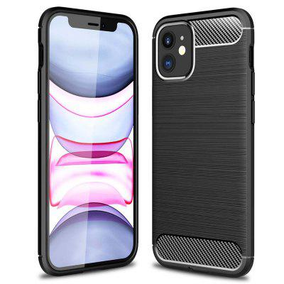 ASLING Carbon Fiber TPU Soft Back Cover Phone Case for iPhone 12 Mini