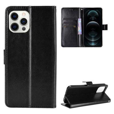 ASLING PU Leather Cover with Holder Wallet Card Storage Phone Case for iPhone 12 / Pro 6.1 inch