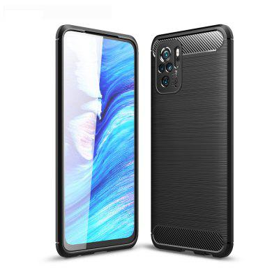 ASLING Carbon Fiber TPU Soft Back Cover Phone Case for Xiaomi Redmi Note 10 / 10S / 10 Pro / 10 Pro Max