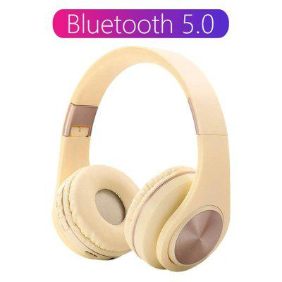 Jeaper A1 Foldable Wireless Headphone With HD MIC Headset Bluetooth 5.0 Support Tf card Earphone For phone
