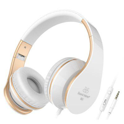 Picun Fashion I65 Headphones with HD Microphone Deep Bass Wired Adjustable Foldable design Headset Support Volume Control for For  iPhone  Android