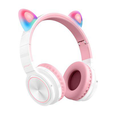 Фото - Jeaper Cute Cat Bluetooth Headset Folding Wireless Hifi Music Stereo Bass 7 Color LED Light Headphones Mobile Phones Women Girl Daughter Headset led light string for mirror bathroom aisle