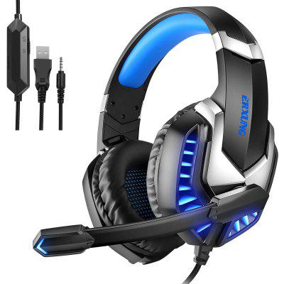 Professional Gaming Headset Wired Headphones Surround Sound Stereo Bass Earphones USB Microphone Breathing LED Light PC Gamer