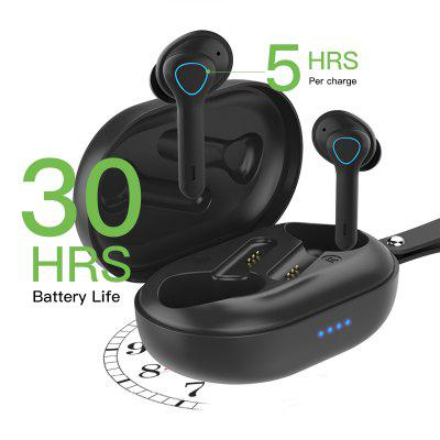 Фото - TS08 Wireless Earbuds  53 in Ear Wireless Headphones   TWS Bass Stereo Bluetooth Earbuds Bluetooth   Earphones with Built in Mic 2020 new xiaomi airdots 2 tws wireless earphone bluetooth 5 0 dsp noise reduction handsfree earbuds tap control with mic
