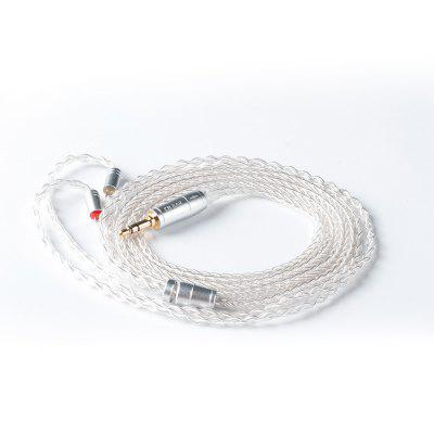 KBEAR 8 Core Silver Plated Cable With MMCX/2PIN/QDC Pins Use For ZS10 PRO ZSN PRO AS16 ZSN AS10 AS12