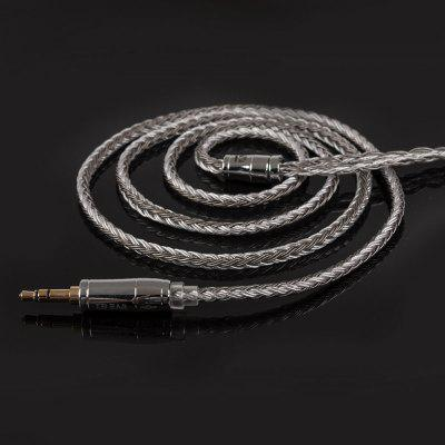 KB EAR 16 Core Silver Plated Balanced Cable 2.5/3.5/4.4MM With MMCX/2pin/QDC Connector For ZS10 Pro AS10 ZSX ZSN C12 BL-03