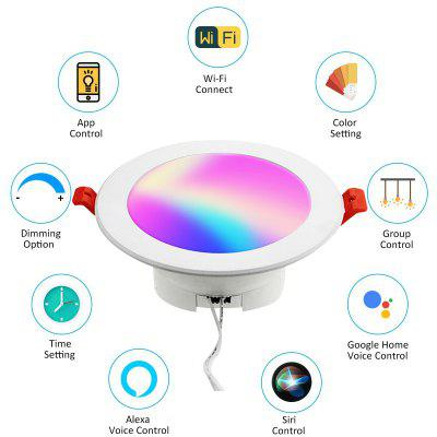 V20 WIFI smart LED Downlight dimmable RGBCCT 6W 2.5inch led spotlight ceiling lamp recessed down lights round panel light