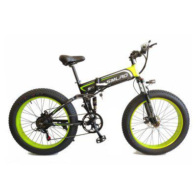 Smlro S11 Electric Bike10An 500W 7 Speeds 48V 26 inch Fat Tire Mens Mountain Electric Bicycle with LCD Display Folding EBike Image