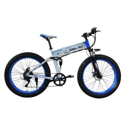 Smlro S11 Electric Bike10An 500W 7 Speeds 48V 26 inch Fat Tire Mens Mountain Bicycle with LCD Display Folding EBike