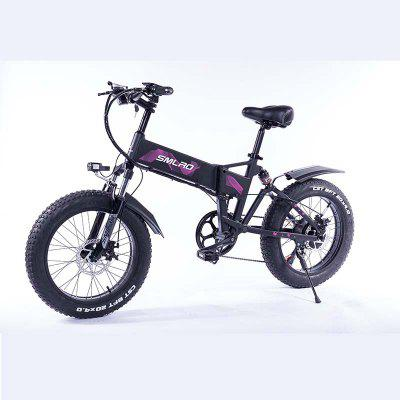 Smlro M6 20inch Folding Front And Rear Suspension Electric Bike 48V  350W  10AN Removable Lithium-Ion Battery  E-Bike Fat Tire Electric Bicycle Image