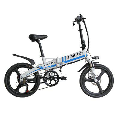 Smlro S9-T Electric Bicycle 48V 350W 10an Urban Folding Mobility Electric Bike 7-speed Shimano Integrated Wheel E-Bike Image