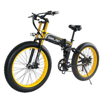 SMLRO S11PLUS  26 inch  Fat Tire 7 Speed  Electric Bike 500W 750W 1000W Electric Bicycle with 48V 14AH SAMSUNG Foldable Motorcycle Mtb Cycling