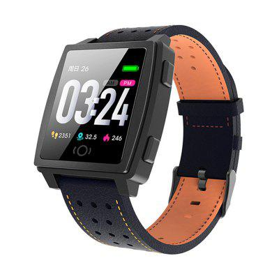ARMOON Smart Watch CK22 Android IOS Sports Bracelet Heart Rate Blood Pressure Fitness Tracker Color Activity Call Message Leather Band