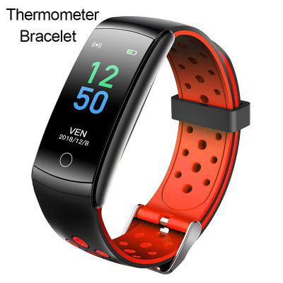 ARMOON Q8T Thermometer Smart Watch Women Heart Rate Sleep Fitness Tracker Android IOS Bracelet Temperature Men Sportband Blood Pressure Smartwatch for
