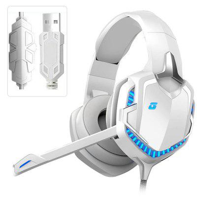 Фото - ARMOON Gaming Headset HT01 Gamer Headphones 7.1 Surround Sound  With Mic LED Light Headset Gifts for Computer PS4 PC Wired Headsets christmas background vinyl photography backdrops computer printed christmas fire place tree and gift box for photo studio st 522