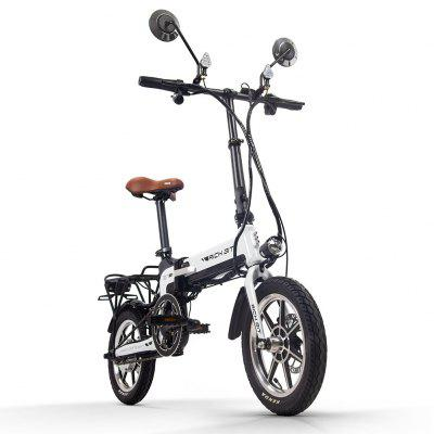 Rich Bit Ebike RT-619 14 Inch Folding Electric Bike  250W 36V 10.2AH Li-ion Battery 5 Level Pedal Assist With Rear luggage rack Image
