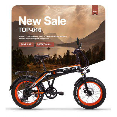 RICH BIT Electric Bicycle  Folding Fat Tire Ebike 48V 9.6AH 500W