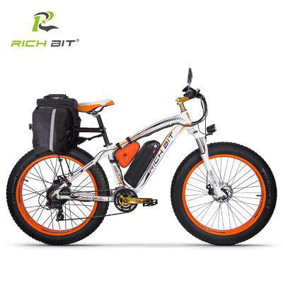 RICH BIT RT-022 26-Inch  Fat Tire Electric Bicycle 48V17AH Battery Adult Auxiliary Bike 1000W Mountain Snow E-Bike Image