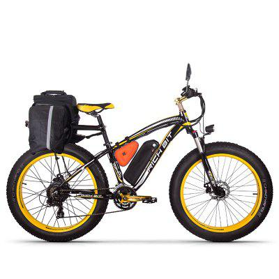 RICH BIT Electric Bike 26 Inch 4.0 Fat Tire Ebike 48V 17AH Removable Lithium Battery 1000W Motor Fat Tire  Electric Bicycle Image