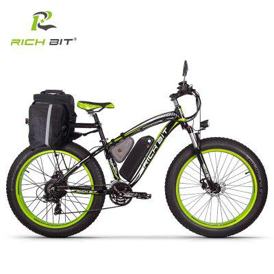 RICH BIT1000W Electric Bike RT-022 26In 4.0 Fat Tire 48V 17AH Removable Battery PAS 7 Speed AduEbike Image