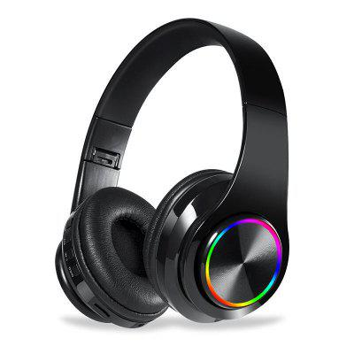 Wireless Headset 3D Stereo Bluetooth Headset Foldable Gaming Headset with Microphone FM TF Card Noise Reduction Headset