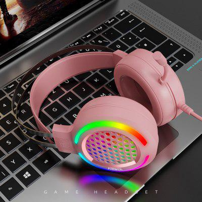 Gaming Headset RGB Lighting Professional Gaming Headset Head-mounted Subwoofer Headset Born for Gaming