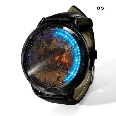 LED Touch Screen Watch Fortnite Series Male and Female Student Waterproof Watch Is Very Creative  Personality  Trendy