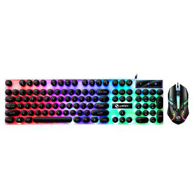Gaming Keyboard and Mouse Set Wired LED Lighting for PC Laptop