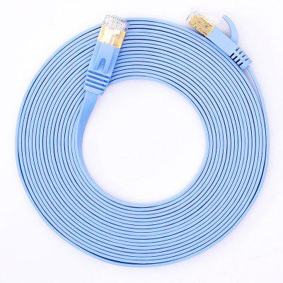 Hannord Cat6 Ethernet Cable Pure Copper Head Ultra Thin Flat Patch Cord RJ45 UTP FTP Lan Network For PC Router