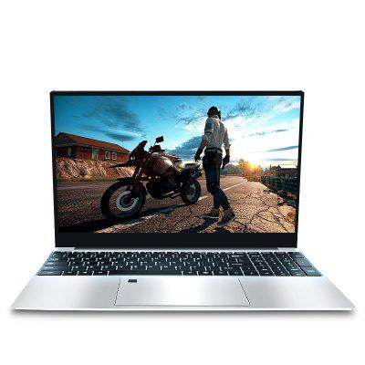 AUKTION 15.6 inch Laptop AMD Ryzen R5 CPU 2.4G&5G WiFi Mental Study Game Computer Support Backit Keyboard Fingerprint unlock Image