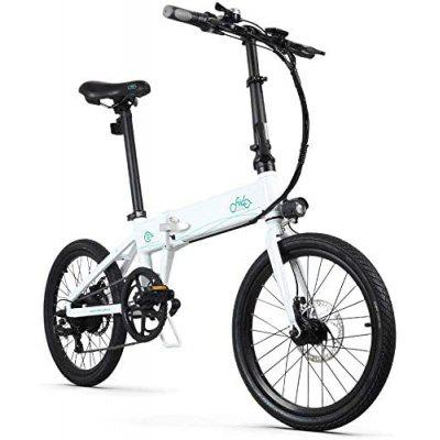 FIIDO D4S Commute Folding E-Bike 250W Motor Maximum Endurance 80 km 6 Speed Derailleur 3 Mode LCD Display 10.4Ah Battery 20Inch Fat Tire