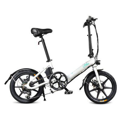 FIIDO D3S Folding E-Bike Shimano 6 Speed With 250W/36V Battery Max Speed 25km/h 16 Inch Wheels Dual-disc Brakes For Adults & Teenagers & Commuters Image