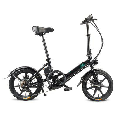 FIIDO D3S Folding E-Bike Shimano 6 Speed With 250W/36V Battery Max 25km/h 16 Inch Wheels Dual-disc Brakes For Adults & Teenagers Commuters
